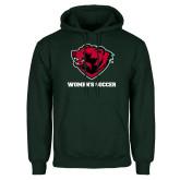 Dark Green Fleece Hood-Womens Soccer