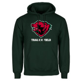 Dark Green Fleece Hood-Track and Field