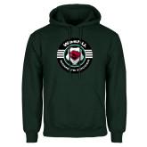 Dark Green Fleece Hood-Womens Soccer Design