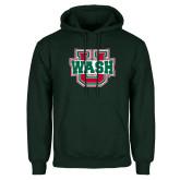 Dark Green Fleece Hood-Wash U