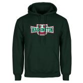 Dark Green Fleece Hood-Washington U