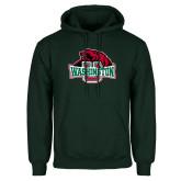 Dark Green Fleece Hood-Washington U w/Bear