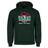 Dark Green Fleece Hood-Womens Basketball