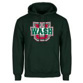Dark Green Fleece Hood-WashU