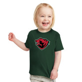 Toddler Dark Green T Shirt-Bear Head