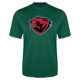 Performance Dark Green Heather Contender Tee-Bear Head