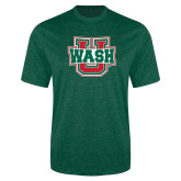 Performance Dark Green Heather Contender Tee-WashU