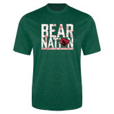Performance Dark Green Heather Contender Tee-Bear Nation