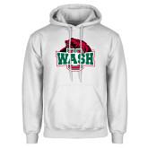 White Fleece Hoodie-Wash U w/Bear