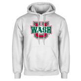 White Fleece Hoodie-Wash U