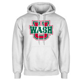 White Fleece Hoodie-WashU