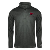 Russell Charcoal Heather 1/4 Zip-Bear Head