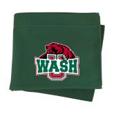 Dark Green Sweatshirt Blanket-Wash U w/Bear