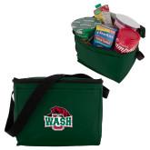 Six Pack Dark Green Cooler-Wash U w/Bear