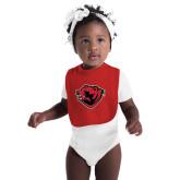 Red Baby Bib-Bear Head