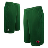 Russell Performance Dark Green 10 Inch Short w/Pockets-Bear Head