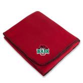 Red Arctic Fleece Blanket-Wash U w/Bear