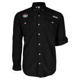 Columbia Bahama II Black Long Sleeve Shirt-Wash U w/Bear