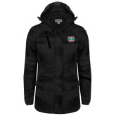 Ladies Black Brushstroke Print Insulated Jacket-WashU