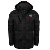 Black Brushstroke Print Insulated Jacket-WashU