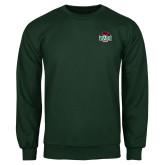 Dark Green Fleece Crew-Wash U w/Bear