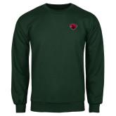 Dark Green Fleece Crew-Bear Head