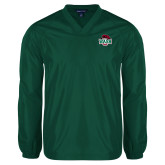 V Neck Dark Green Raglan Windshirt-Wash U w/Bear