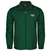 Full Zip Dark Green Wind Jacket-Wash U w/Bear