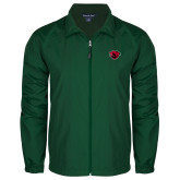 Full Zip Dark Green Wind Jacket-Bear Head