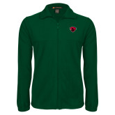 Fleece Full Zip Dark Green Jacket-Bear Head