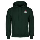 Dark Green Fleece Hood-Wash U w/Bear