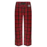 Red/Black Flannel Pajama Pant-WashU
