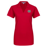 Ladies Red Dry Zone Grid Polo-WashU