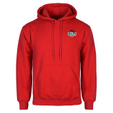 Red Fleece Hoodie-Wash U w/Bear