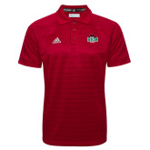 Adidas Climalite Red Jacquard Select Polo-Wash U w/Bear