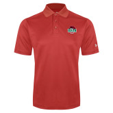 Under Armour Red Performance Polo-Wash U w/Bear