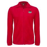 Fleece Full Zip Red Jacket-Wash U w/Bear