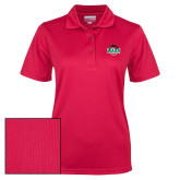 Ladies Red Dry Mesh Polo-Wash U w/Bear