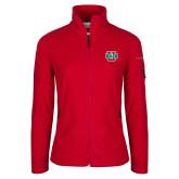 Columbia Ladies Full Zip Red Fleece Jacket-WashU