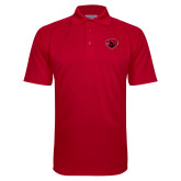 Red Textured Saddle Shoulder Polo-Bear Head