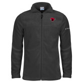 Columbia Full Zip Charcoal Fleece Jacket-Bear Head