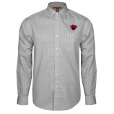 Red House Grey Plaid Long Sleeve Shirt-Bear Head