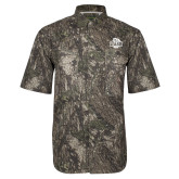 Camo Short Sleeve Performance Fishing Shirt-Wash U w/Bear