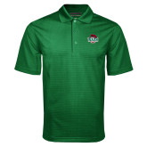 Dark Green Mini Stripe Polo-Wash U w/Bear