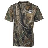 Realtree Camo T Shirt w/Pocket-Wash U w/Bear