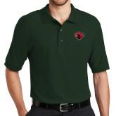 Dark Green Easycare Pique Polo-Bear Head
