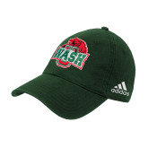 Adidas Dark Green Slouch Unstructured Low Profile Hat-Wash U w/Bear