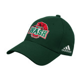 Adidas Dark Green Structured Adjustable Hat-Wash U w/Bear
