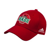 Adidas Red Structured Adjustable Hat-Wash U w/Bear