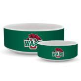 Ceramic Dog Bowl-Wash U w/Bear